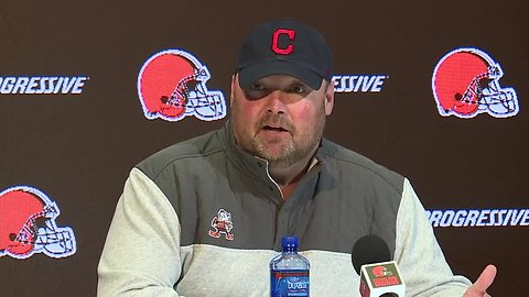 Freddie Kitchens talks to media about upcoming season