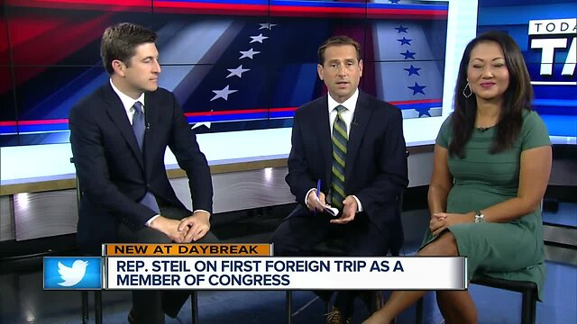 U S  Rep Bryan Steil talks about the importance of foreign travel as a  member of congress