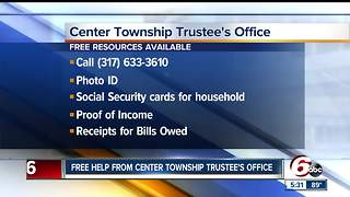 Food, housing and transportation help at the Center Township Trustee's Office