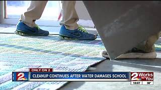 Tahlequah Schools working through weekend after sprinkler burst - Video