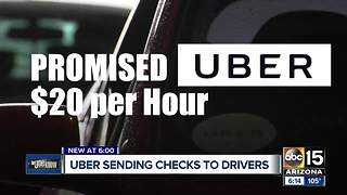 Uber sending checks to drivers after promising $20 an hour pay - Video