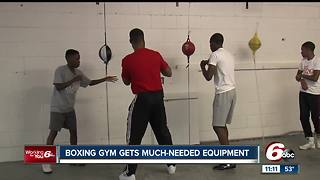 Indianapolis boxing gym receives new equipment - Video