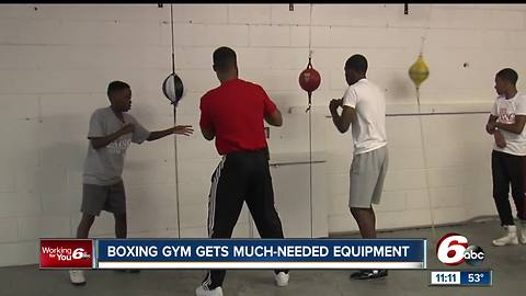 Indianapolis boxing gym receives new equipment