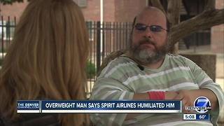 Overweight man: Spirit Airlines 'embarrassed' me after taking away my seat - Video