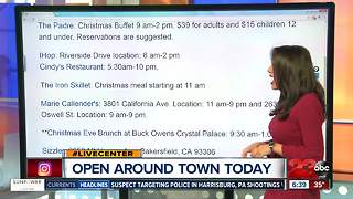 Restaurants Open in Bakersfield on Christmas Day 2017 - Video