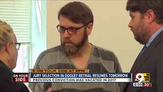 Jury selection in Dooley retrial resumes Tuesday