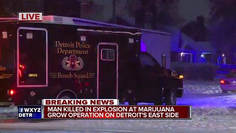 One dead in explosion at possible Detroit marijuana grow operation