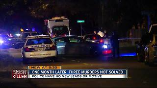 Police still have no leads one month after first serial Seminole Heights murder - Video