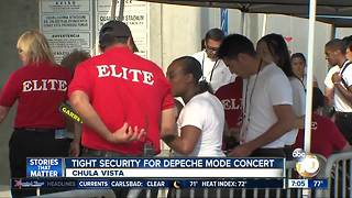 Tight security for Depeche Mode concert - Video