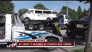 11 children, 2 adults injured in crash involving church van and two other vehicles in Greenfield