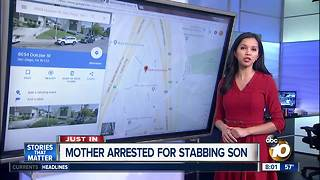 Police: Woman stabs son four times during argument at San Diego home - Video