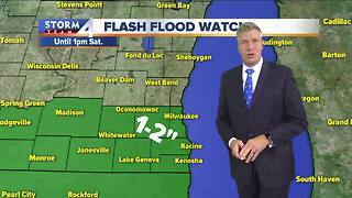 Flash flood watch in effect until Saturday