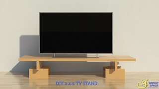 DIY TV Stand   Build with 2X6 Lumber