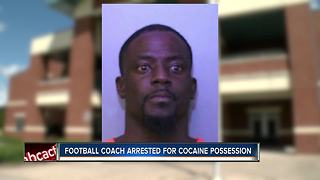Coach arrested for cocaine possession