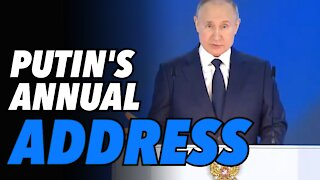 Putin's Annual Address draws RED LINES NOT to be crossed. More info on Belarus coup coming