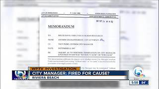 Was Riviera Beach City Manager fired for cause? - Video
