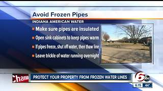 Protect your property from frozen water lines - Video