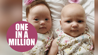 Meet the 'one in a million' twins - one with Down's syndrome and the other without - Video