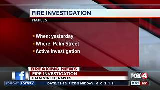 Fire investigation in Naples - Video
