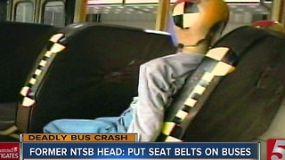 Former NTSB Chair: Put Seat Belts On School Buses - Video