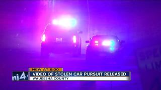 Waukesha Sheriff dash cam captures high speed chase - Video