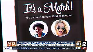 Fake online romances scam victims out of millions of dollars - Video