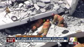 At least 6 killed in bridge collapse