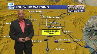 Strong winds expected tonight