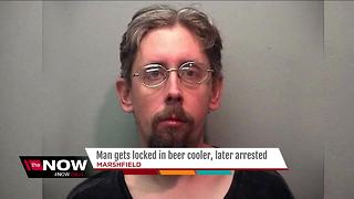 Wisconsin man locked in beer cooler overnight - Video