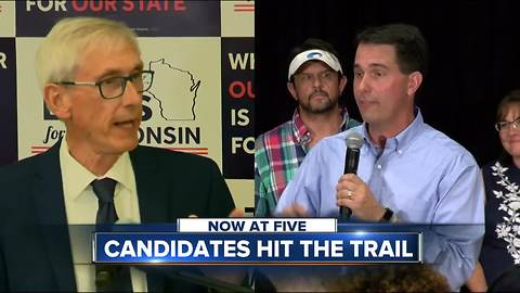 Walker, Evers waste no time getting ready for the general election