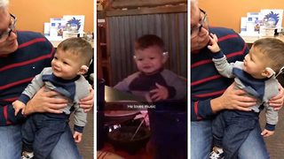 Toddler Starts Jamming To The Music After A Life-Changing Ear Surgery