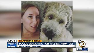 Police search for missing Army veteran - Video