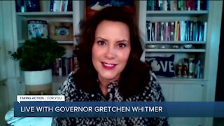 WATCH: Gov. Gretchen Whitmer addresses Biden & Trump rallies, timeline for opening other businesses