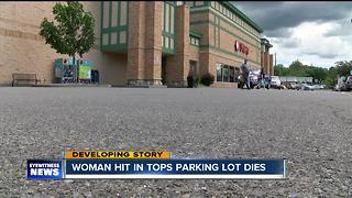 Woman hit and killed in Tops parking lot - Video
