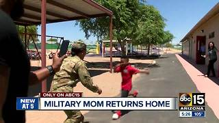 Military mom reunited with sons after deployment - Video