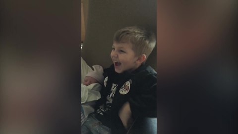 Young Boy Has Something To Say About His Sibling