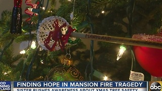 Common Voices organization pushes for Christmas tree fire safety - Video