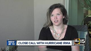 Valley woman survives Hurricane Irma on island - Video