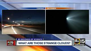 Strange clouds spotted over the west Valley - Video