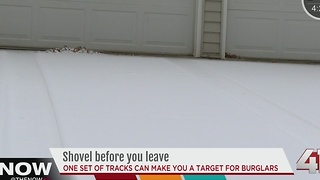 One set of tire tracks can make you a target for burglars - Video