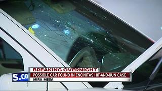 Possible car found in Encinitas hit-and-run case - Video