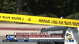 Search for driver who ran over neighbor