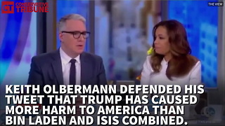 Keith Olbermann Claims Trump is Worse Than Bin Laden and ISIS - Video