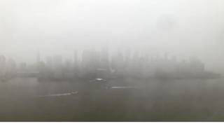 Timelapse Shows Ferries on Hudson River During Nor'easter