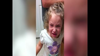 Cute Little Girl Learns that Jalapeños are Spicy the Hard Way - Video