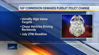 Fire and Police Commission demands pursuit policy change - Video