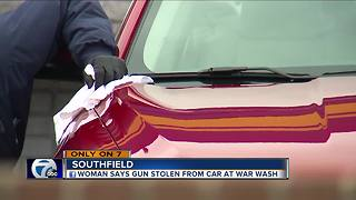 Woman says gun stolen from car at Southfield car wash - Video