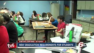 New Indiana high school graduation requirements will start with class of 2023 - Video