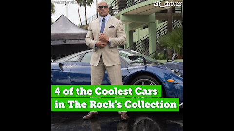 4 of the Coolest Cars in The Rock's Collection