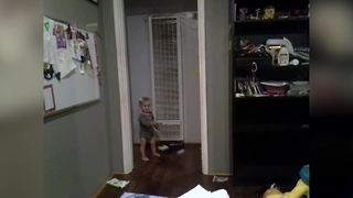 A Tot Boy Plays With A Toy And Doesn't Want To Share It - Video